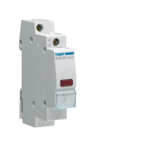 Ενδεικτικό ράγας LED κόκκινο 12-48V AC/DC SVN132