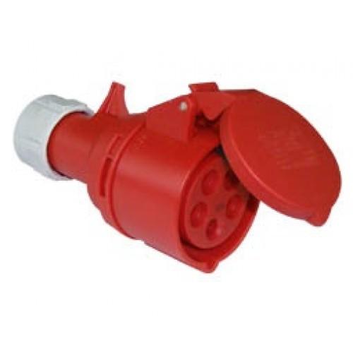 Φις βιομηχανικό θηλυκό 5P 32A IP44 PCE 225-6