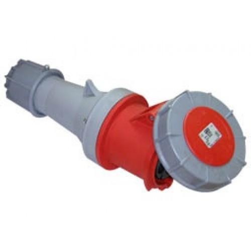 Φις βιομηχανικό θηλυκό 5P 63A IP67 PCE 235-6
