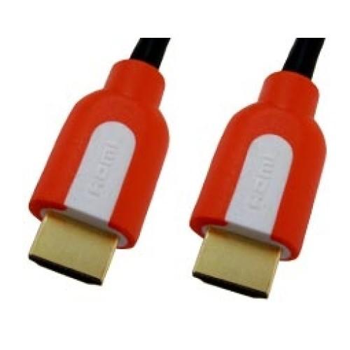 Καλώδιο HDMI-HDMI 1.4 κόκκινο/επίχρυσων επαφών BLISTER 5m CMP COMP
