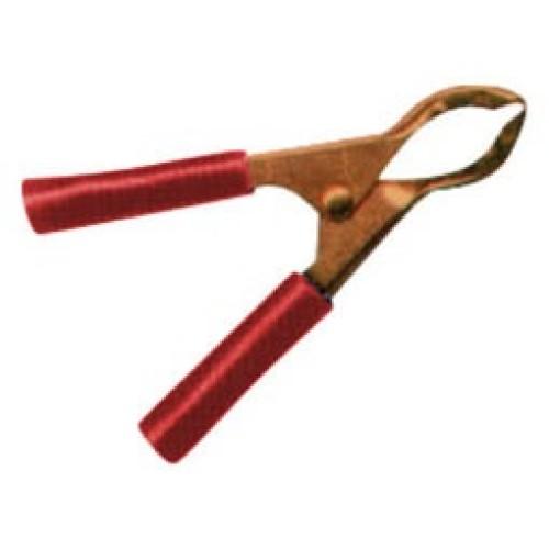 Κροκοδειλάκι μπαταρίας χαλκού 30A 75mm κόκκινο YG-10020 4SPINS LZ