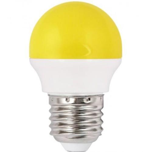 Λάμπα LED 1.8W σφαιρική Ε27 κίτρινη