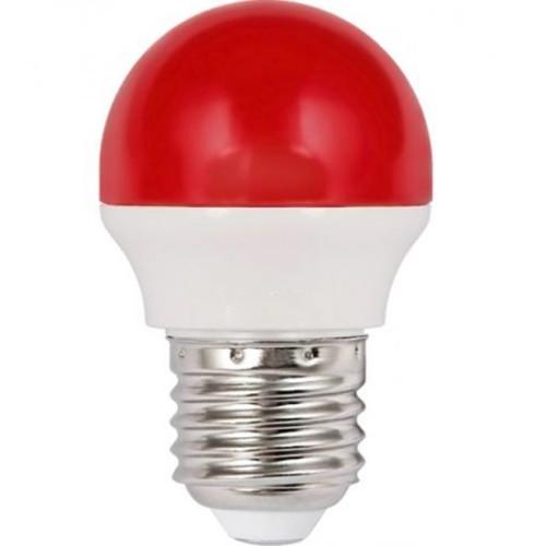 Λάμπα LED 1.8W σφαιρική Ε27 κόκκινη
