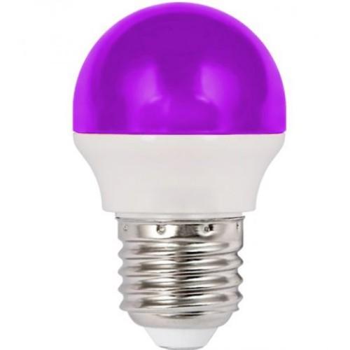 Λάμπα LED 1.8W σφαιρική Ε27 μωβ