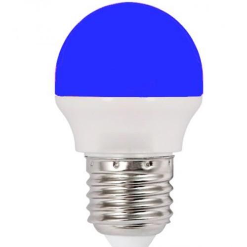 Λάμπα LED 1.8W σφαιρική Ε27 μπλε