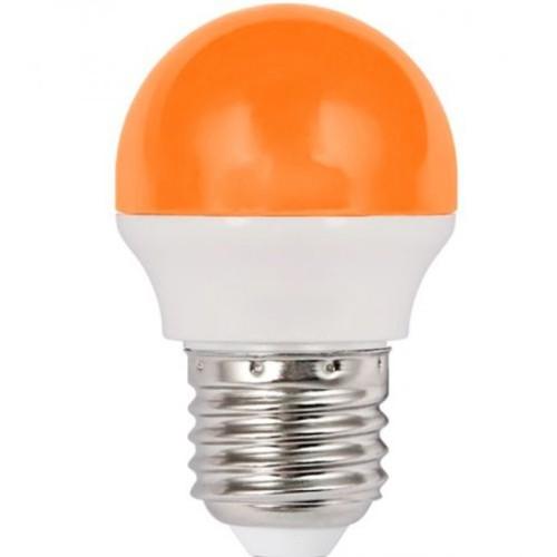 Λάμπα LED 1.8W σφαιρική Ε27 πορτοκαλί