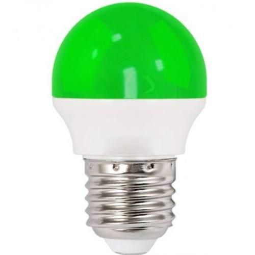 Λάμπα LED 1.8W σφαιρική Ε27 πράσινη
