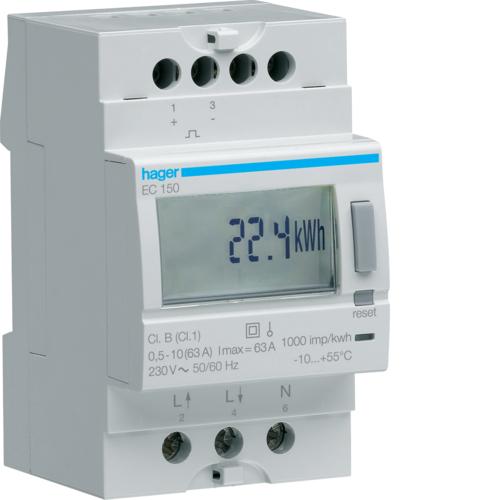 Μετρητής ενέργειας μονοφασικός άμεσης μέτρησης 63A EC150