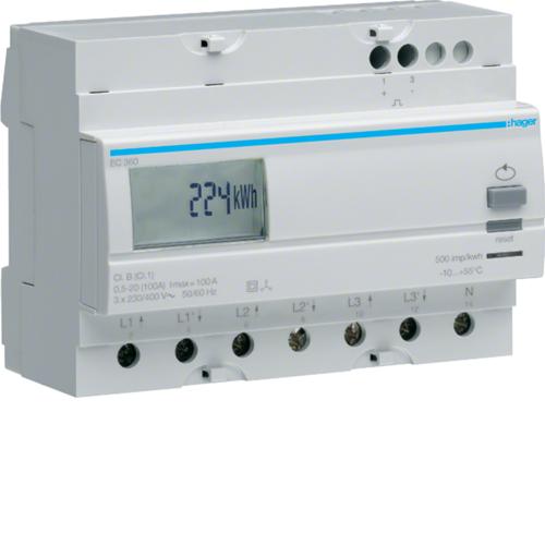Μετρητής ενέργειας τριφασικός άμεσης μέτρησης απλού τιμολ. 100A EC360