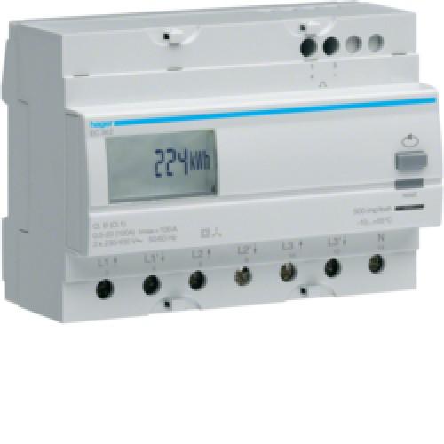 Μετρητής ενέργειας τριφασικός άμεσης μέτρησης διπλού τιμολ. 100A EC362