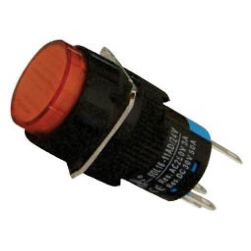 Μπουτόν Φ16 + συγκράτηση + LED 230VAC κόκκινο SDL16-11ADL XND