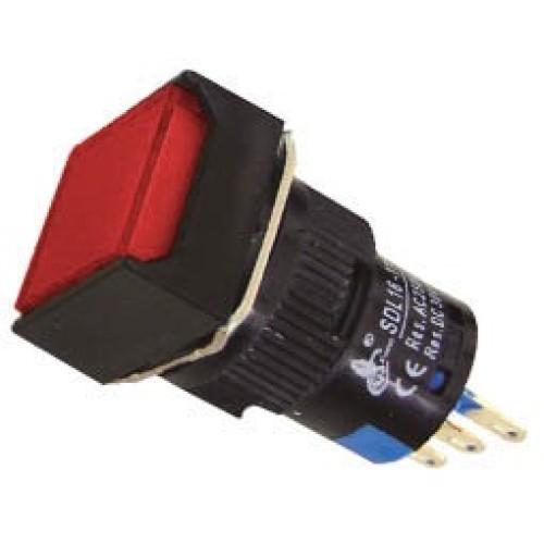 Μπουτόν Φ16 με συγκράτηση 24VAC/DC κόκκινο SDL16-11FL XND