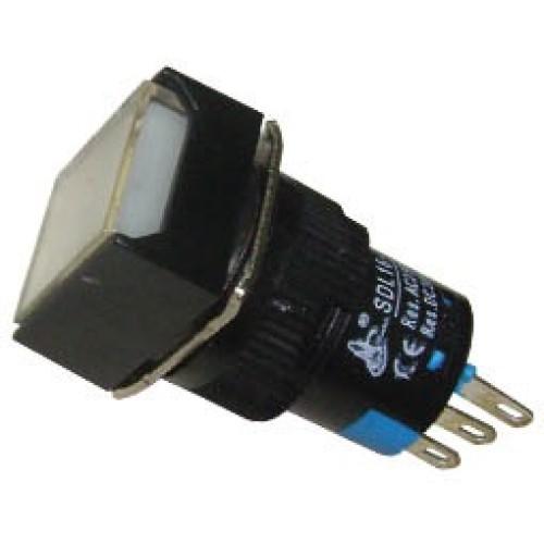 Μπουτόν Φ16 με συγκράτηση 24VAC/DC λευκό SDL16-11FL XND
