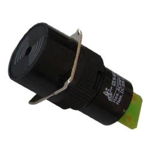 Μπουτόν Φ16 buzzer 24VAC/DC SDL16-SMF κόκκινο/μαύρο XND