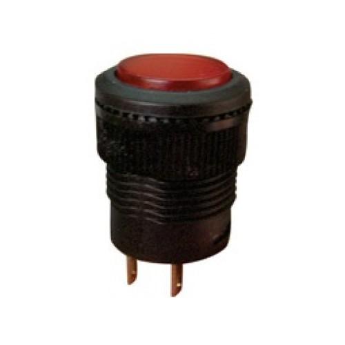 Μπουτόν διακόπτης ON-OFF στρογγυλός μαύρο/κόκκινο (Χ/Λ) R16-503 KZE