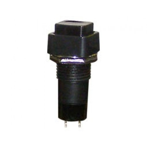 Μπουτόν διακόπτης ON-OFF τετράγωνος μαύρος Φ12 PB303A UNI