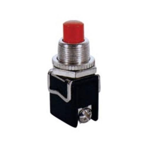 Μπουτόν PUSH OFF στρογγυλό κόκκινο Φ12 βίδα 4A/250V PBS-13C LZ