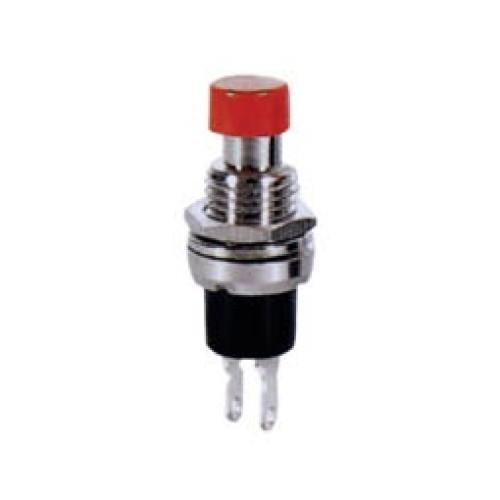 Μπουτόν PUSH OFF στρογγυλό κόκκινο Φ7 μεταλλικό PB308C UNI