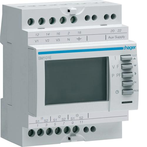 Πολύμετρο ράγας (βολτόμετρο, αμπερόμετρο, συχνόμετρο, μετρητής ωρών) SM101E