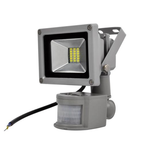 Προβολέας LED 10W SMD ψυχρός με ανιχνευτή κίνησης IP65