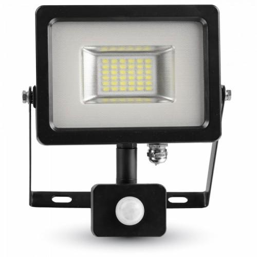 Προβολέας LED 20W SMD θερμό λευκό με ανιχνευτή κίνησης IP65