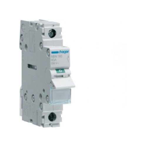 Ραγοδιακόπτης 1X80A με μηχανική ένδειξη SBN180