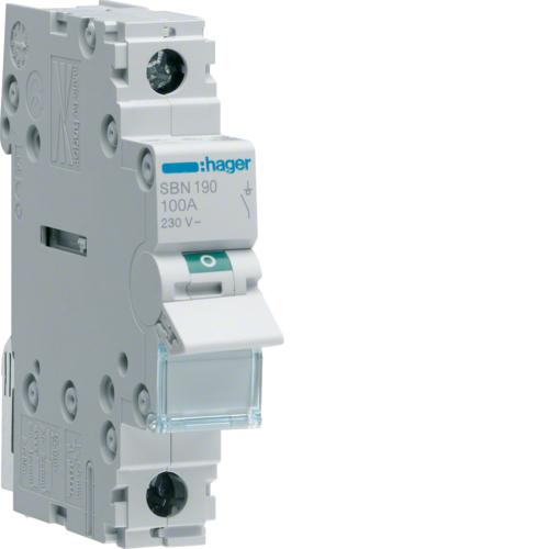 Ραγοδιακόπτης 1X100A με μηχανική ένδειξη SBN190