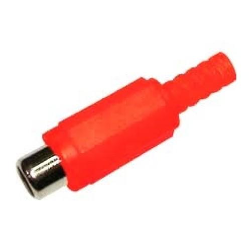 RCA θηλυκό πλαστικό νίκελ ID5mm² κόκκινο RJ228N UNI