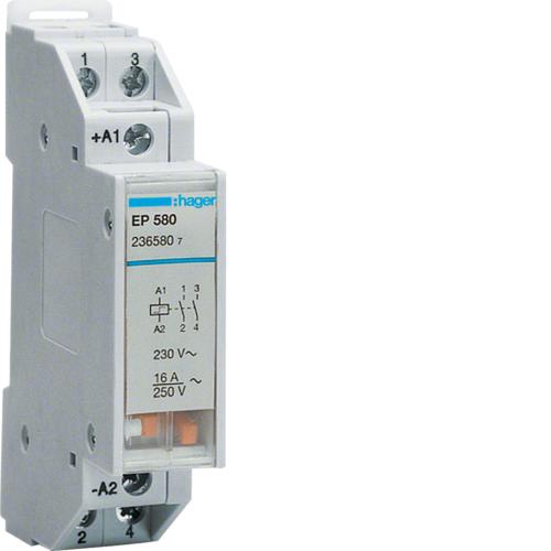 Ρελέ καστάνιας 2 διαδοχικές ανοιχτές επαφές 230V AC 16A EP580
