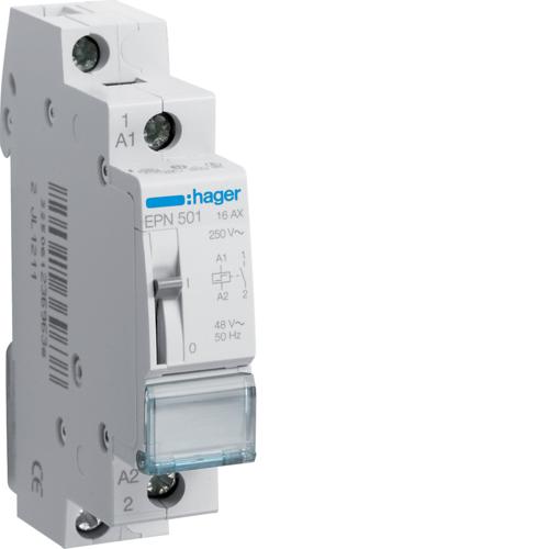 Ρελέ καστάνιας 1 ανοιχτή επαφή 48V AC/24V DC 16A EPN501
