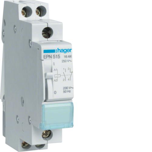 Ρελέ καστάνιας 1 ανοιχτή 1 κλειστή επαφή 230V AC/110V DC 16A EPN515