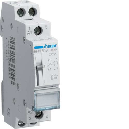 Ρελέ καστάνιας 1 ανοιχτή 1 κλειστή επαφή 24V AC/12V DC 16A EPN518
