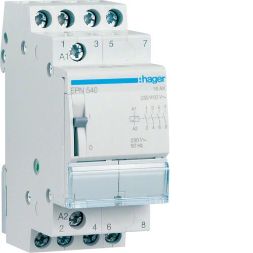 Ρελέ καστάνιας 4 ανοιχτές επαφές 230V AC/110V DC 16A EPN540