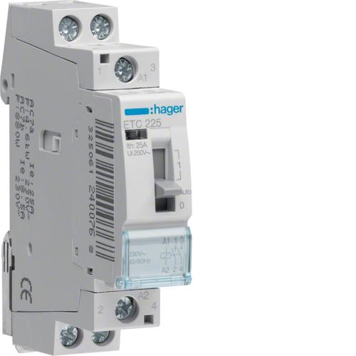 Ρελέ για αυτοματισμούς νυχτερινού τιμολογίου 2 ανοιχτές 230V 25Α ETC225