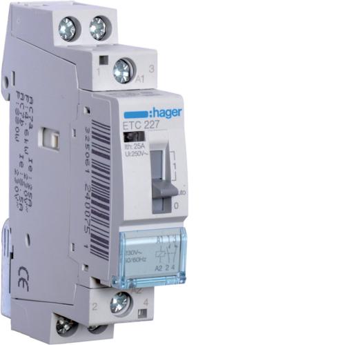 Ρελέ για αυτοματισμούς νυχτερινού τιμολογίου 1 ανοιχτή 1 κλειστή 230V 25Α ETC227