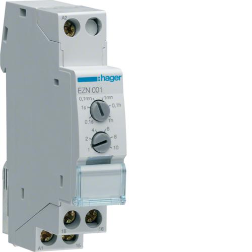 Ρελέ χρονικό 12V-48V AC/DC - 230V AC καθυστέρηση στην ενεργοποίηση EZN001