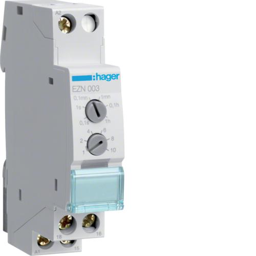 Ρελέ χρονικό 12V-48V AC/DC - 230V AC ρύθμιση μέγιστου χρόνου λειτουρ. EZN003