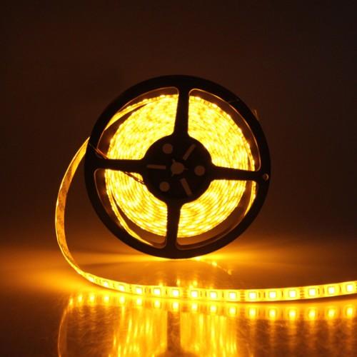 Ταινία LED 14,4W/m 60 led/m 5050 smd κίτρινο IP20