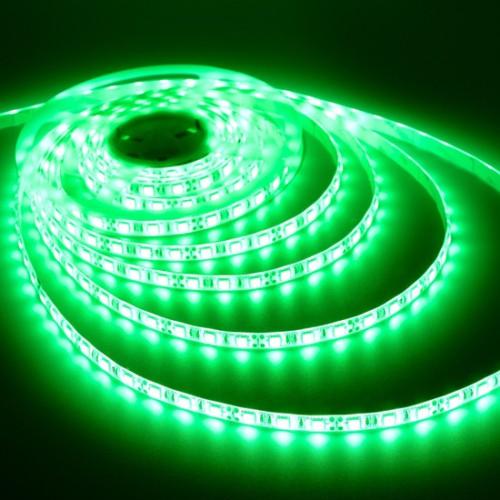 Ταινία LED 14,4W/m 60 led/m 5050 smd πράσινο IP65