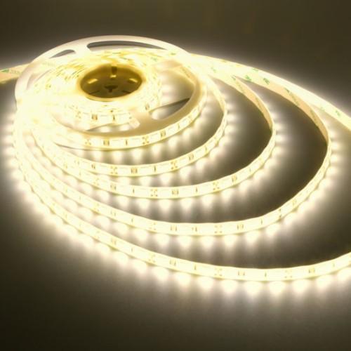 Ταινία LED 4,8W/m 60 led/m 3528 smd θερμό λευκό IP65
