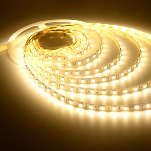 Ταινία LED 14,4W/m 60 led/m 5050 smd θερμό λευκό IP20
