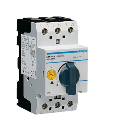 Θερμομαγνητικός διακόπτης προστασίας τριφασικός 0,1-0,16Α MM501N