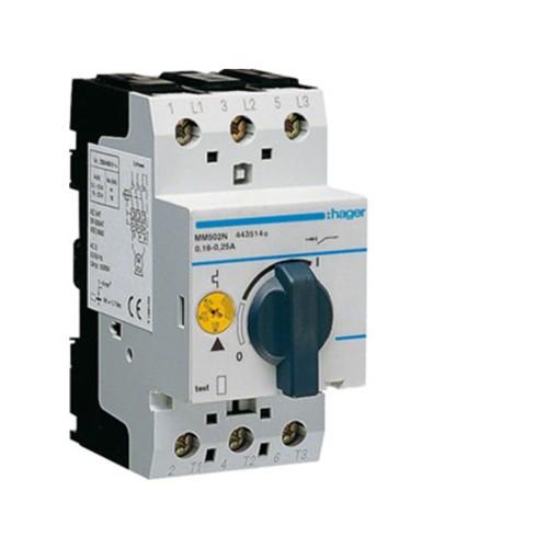 Θερμομαγνητικός διακόπτης προστασίας τριφασικός 0,16-0,25Α MM502N