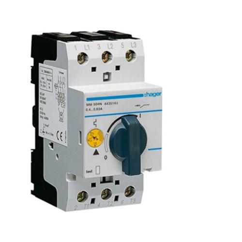 Θερμομαγνητικός διακόπτης προστασίας τριφασικός 0,4-0,63Α MM504N