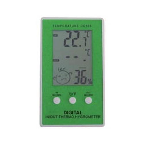 Θερμόμετρο υγρόμετρο ψηφιακό με αισθητήρα πράσινο DC105 CHR