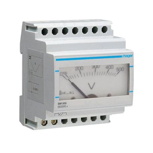 Βολτόμετρο αναλογικό 0-500V SM500
