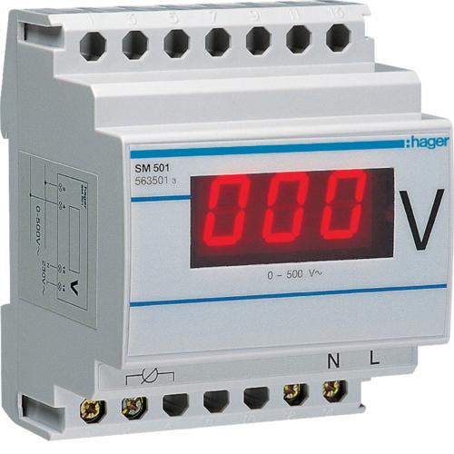 Βολτόμετρο ψηφιακό 0-500V SM501