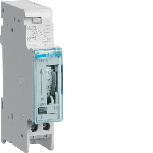 Χρονοδιακόπτης αναλογικός 24 ωρών χωρίς εφεδρεία 230V AC EH010