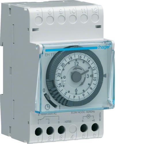 Χρονοδιακόπτης αναλογικός 24 ωρών χωρίς εφεδρεία 12/24V AC/DC EH110A