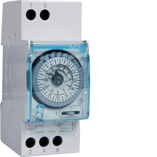Χρονοδιακόπτης αναλογικός 24 ωρών χωρίς εφεδρεία 230V AC EH210